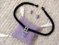 Lavender Jade necklace/earrings set.
